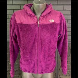 The North Face Purple Fleece Zip Jacket Women's L